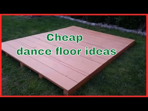 Cheap dance floor ideas | inexpensive dance flooring