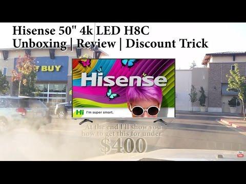 Hisense H8C 4k TV HDR for TV or GAMING MONITOR \ REVIEW & Walk Through + Coupons!!