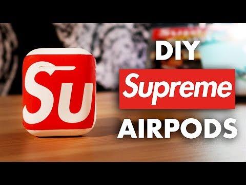 Custom Supreme Airpods Youtube