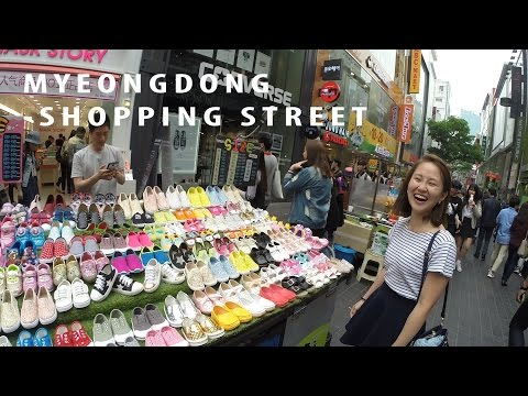 Eat & Shop at MyeongDong Shopping Street/명동거리/Korean Top Tourist Attraction