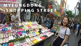 Eat & Shop at MyeongDong Shopping Street/명동거리/Korean Top Tourist Attraction