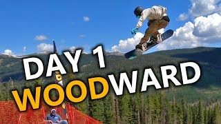 Day 1 Snowboarding at Woodward Copper
