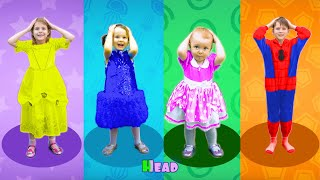 Five Kids Head, Shoulders, Knees & Toes - Exercise Song For Children