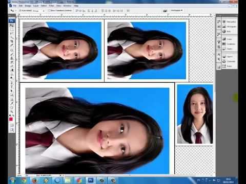 Cara buat pas Foto ukuran 2x3, 3x4 dan 4x6 di Photoshop 2015 - YouTube
