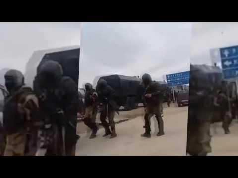Забастовка дальнобойщиков на трассе М4, Видео, Смотреть онлайн