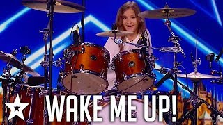 Kid Drummer Plays Avicii - Wake Me Up on ČESKO SLOVENSKO MÁ TALENT | Got Talent Global