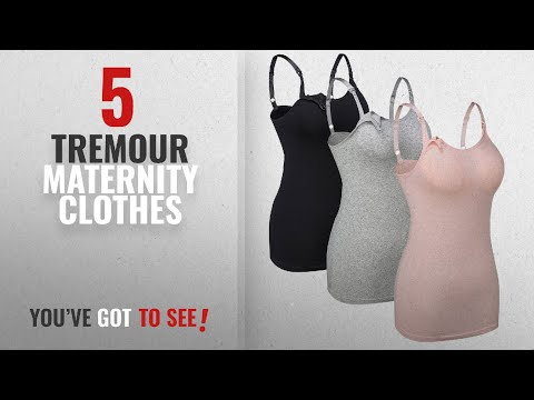 Tremour Maternity Clothes [2018]: Tremour 3Pack Seamless Nursing Cami Tank Top with Build-In