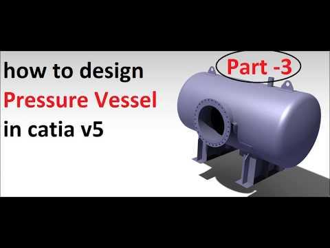 catia v5 tutorial |  pressure vessel in catia | part- 3 | vessel
