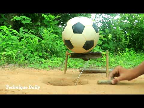 DIY Unique Underground Quail Bird Trap Using Football & Bicycle Legs thumbnail