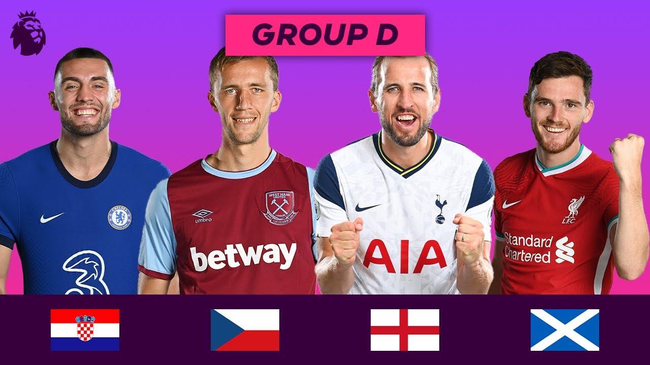Premier League Stars at Euro 2020 | Group D | Kovačić, Souček, Kane, Robertson