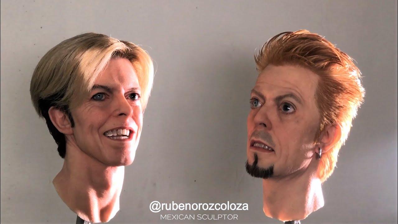 David Bowie hyperrealist sculpture -2018