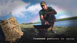 Рыбалка осенью 2021 на красивом водоеме водоём в Кущевской HD