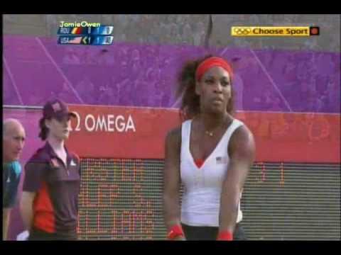 Serena/Venus vs Halep/Cirstea 2012 London Highlights