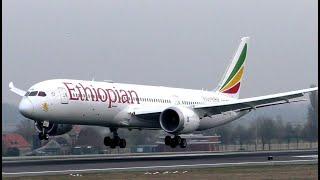 Ethiopian Airlines Boeing 787 Landing at Brussels Airport