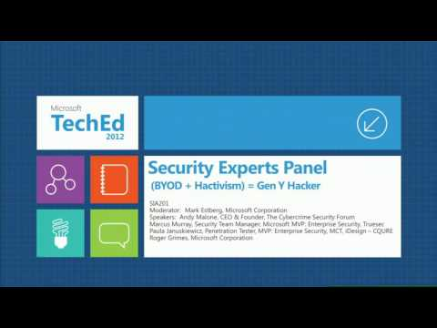 TechEd Europe 2012 Security Experts Panel Discussion BYOD + Hactivism = Gen Y Hacker