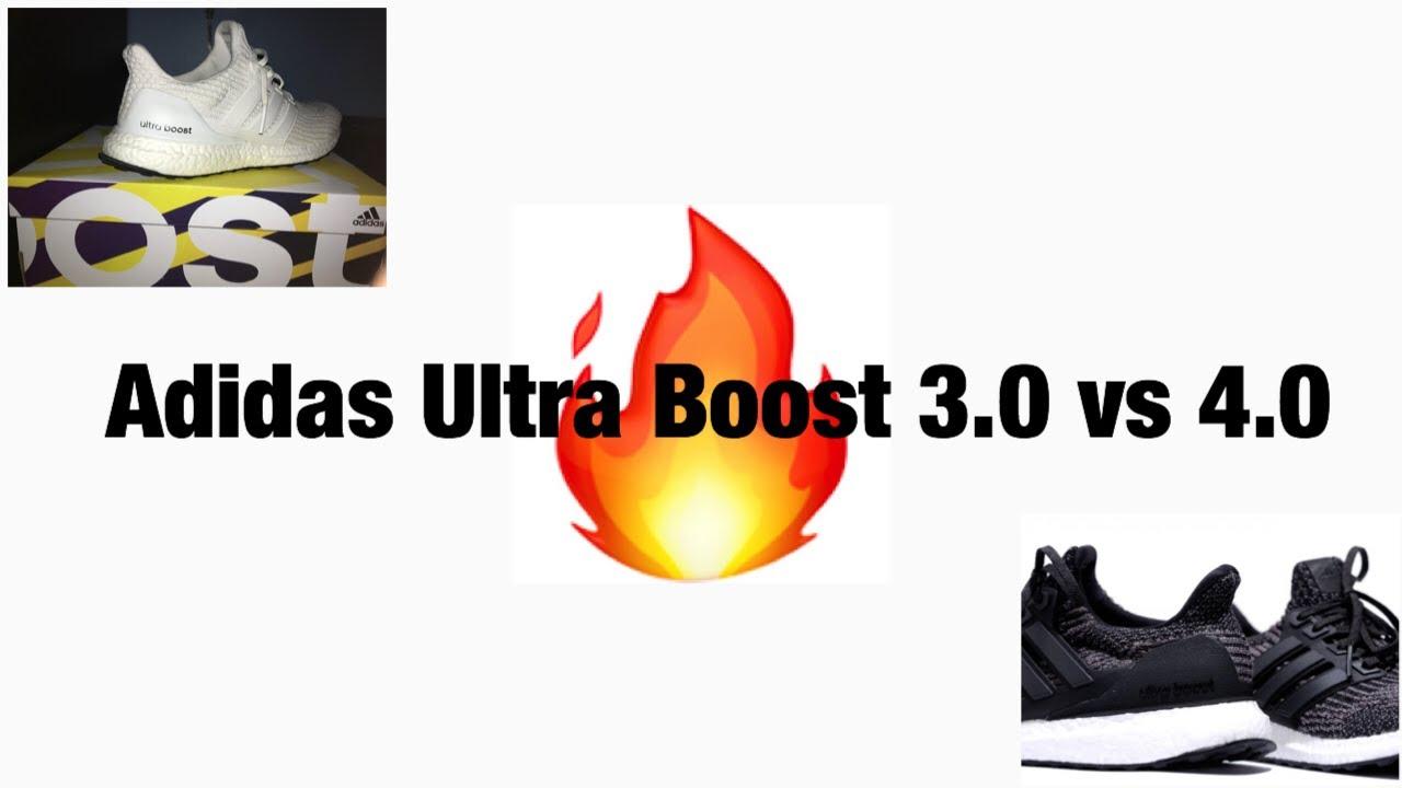 c634a25e24a Adidas Ultra Boost 3.0 vs 4.0 - YouTube