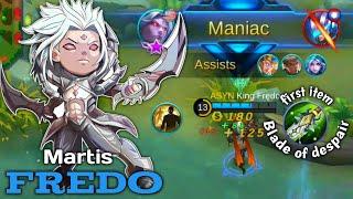 Fredo Maniac : Hero can be nerfed but not Fredo | King Frędo Martis Gameplay ft Soloz Natalia