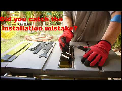 Replacing a table saw blade youtube replacing a table saw blade greentooth Image collections