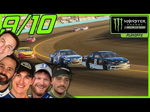 WHO WILL MAKE IT TO THE FINAL 4? - NASCAR Heat 2 Career Mode |Playoff Race 9/10|