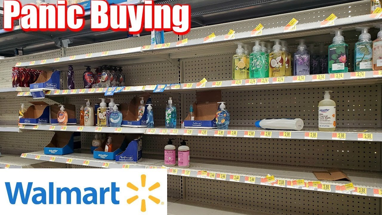 EMPTY SHELVES WALMART SHOP WITH ME 2020 DON'T PANIC