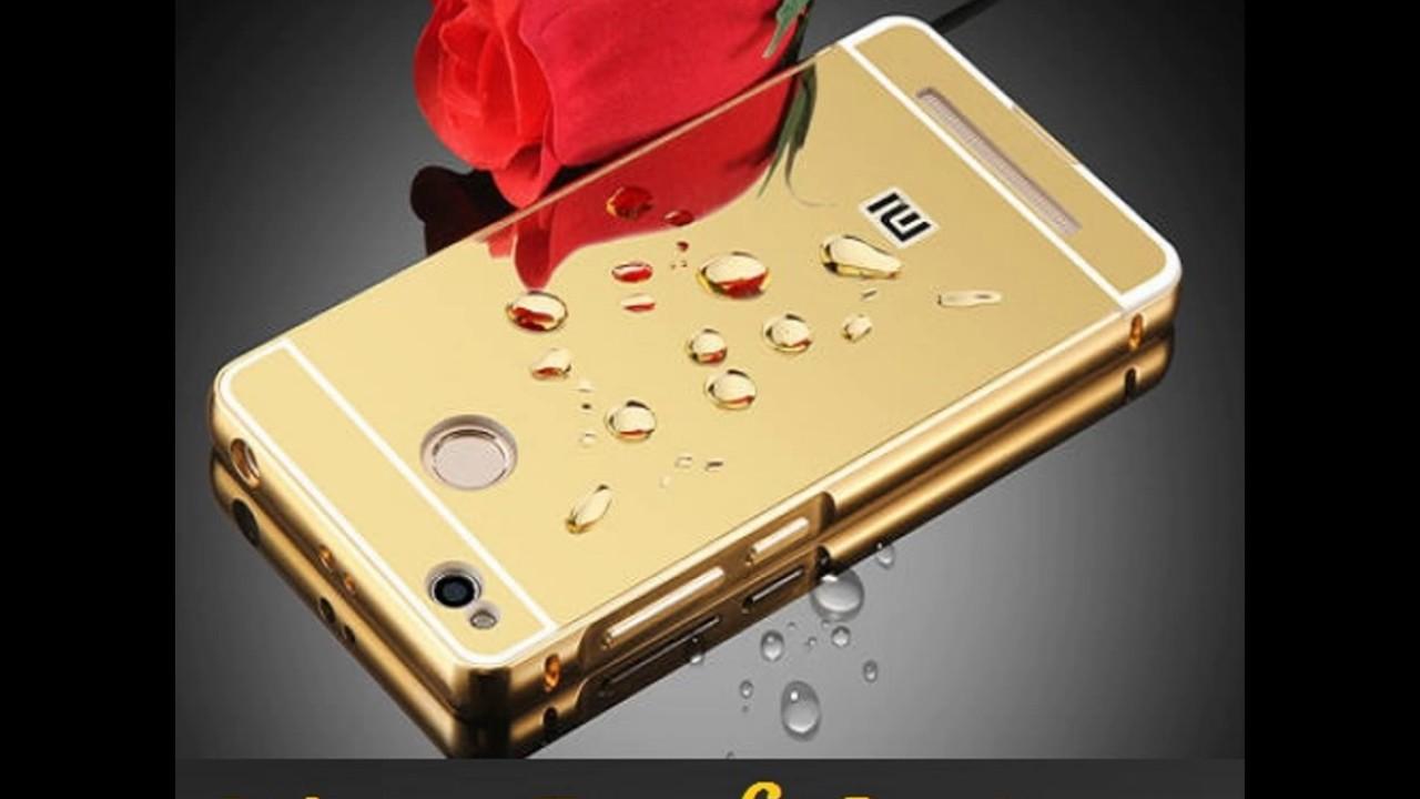 quality design 011d3 8ea4f Mirror Effect Back Case for Redmi 4 - Gold Color Metal Bumper Back Cover