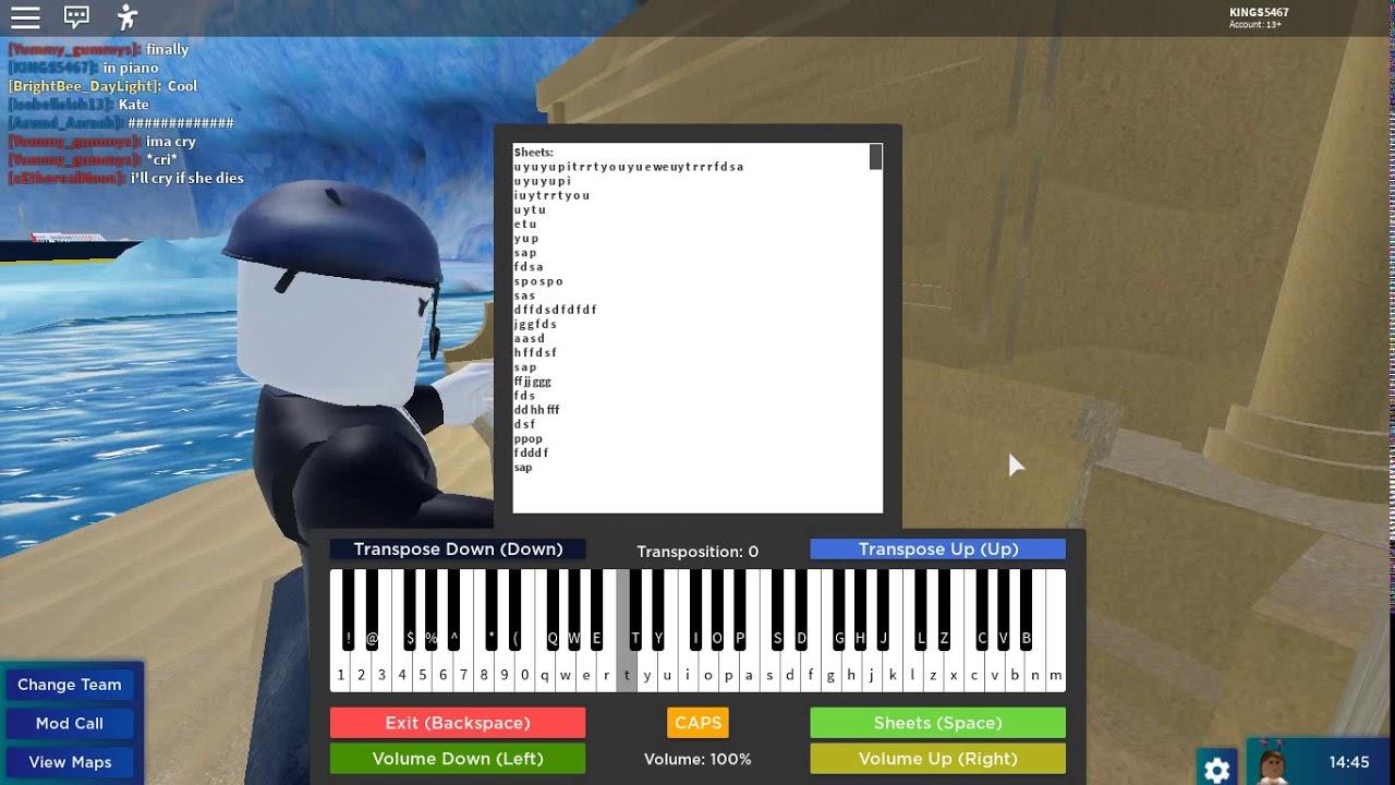 Alone Piano Sheet Roblox