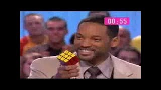 Will Smith solve Rubik´s Cube (Live and Movie)