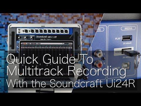 Soundcraft Ui24R Digital Mixer and Multi-Track Recorder