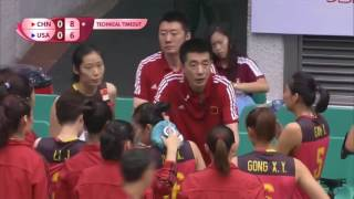 Highlights of  Wing Spiker Star GongXiangyu in Marco series -2017 FIVB Volleyball   World Grand Prix