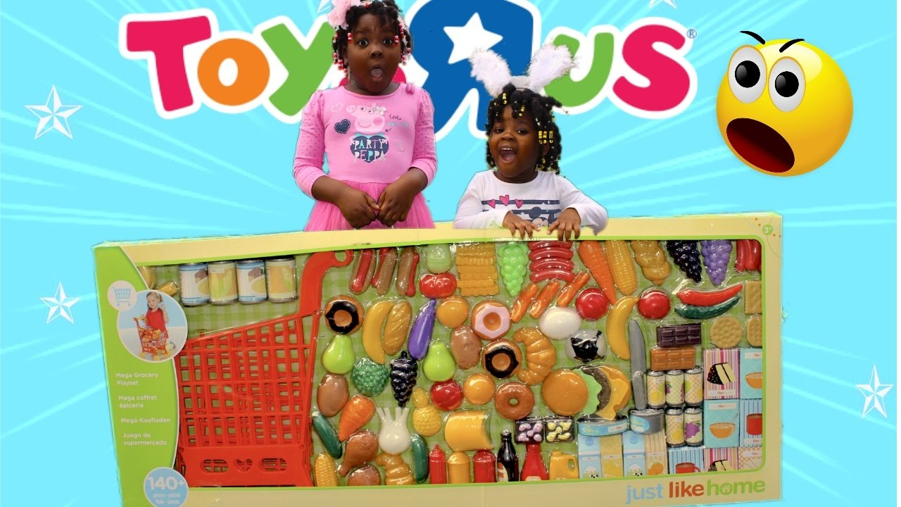 Just Like Home Toys : Unboxing just like home mega grocery playset cute little