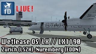 [FSX LIVE] Flying to Nuremberg for Swiss! LX1190 // Majestic Dash-8 PRO // Join me! :-)