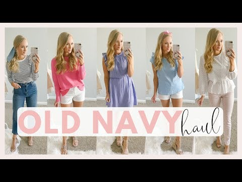 14 SPRING OUTFITS FROM OLD NAVY | SPRING CLOTHING TRY ON HAUL 2019 | Amanda John
