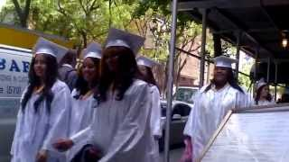 New York girls did their High School Diploma