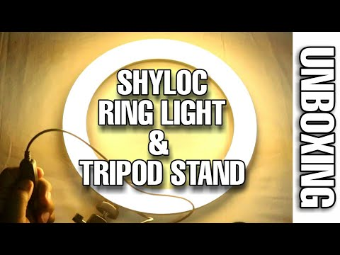 #SHYLOC #RINGLIGHT AND TRIPOD UNBOXING