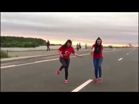 Two beautiful girls dancing on Hyderabad famous chatal band