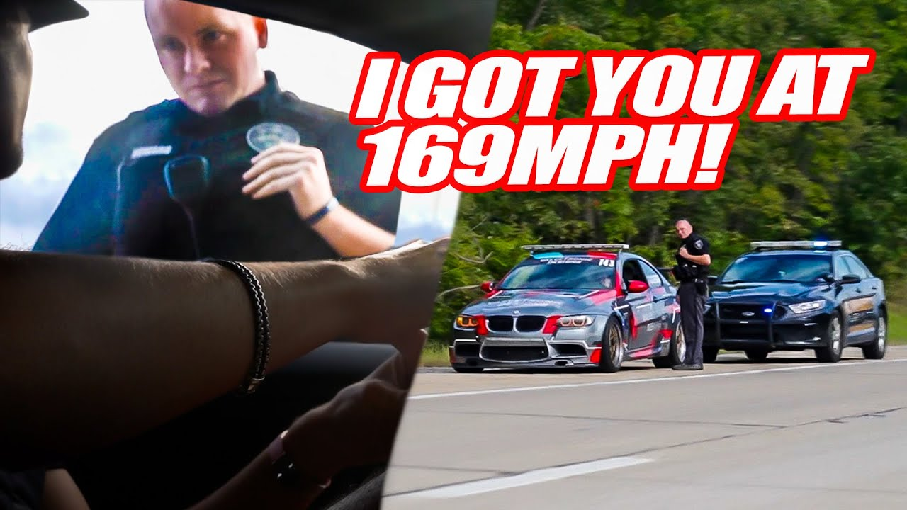 MAD COP TRIES TICKETING OUR FRIEND FOR 169MPH ON SUPERCAR RALLY! THEN...
