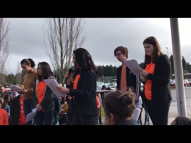 #NeverAgain Walkout: Camas Students Pay Tribute to Parkland Victims