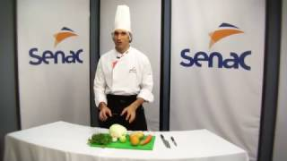 Aula prática cortes básicos de legumes - Parte 1