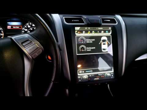 12.1 inch Tesla-style android head unit for 13 to 17 Altima Demo Video in car 1