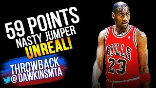 Michael Jordan Full Highlights 1988.04.03 at Pistons - Young MJ With UNREAL 59 Pts!