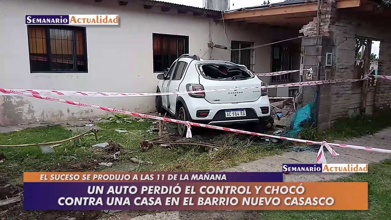 Un auto perdió el control y chocó contra una casa en el barrio Nuevo Casasco