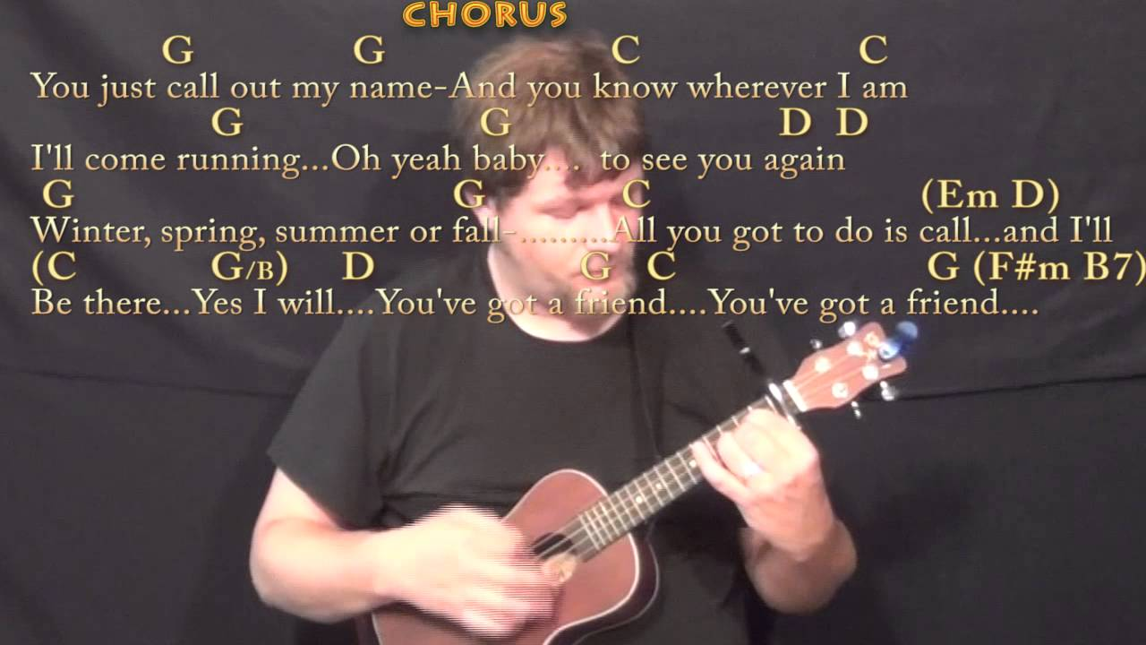 Youve Got A Friend Carole King Ukulele Cover Lesson With Chords
