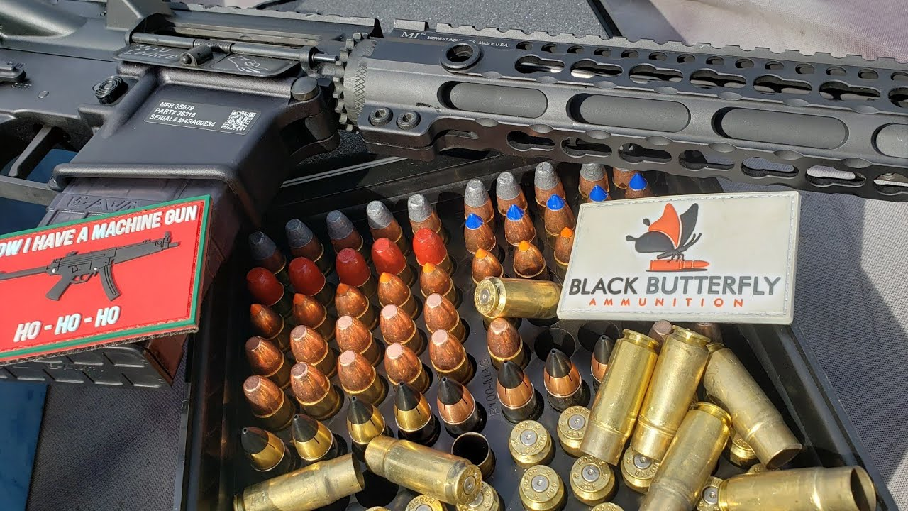Franklin Armory Binary Trigger AR15 Mag Dumps: 458 Socom Black Butterfly Ammunition