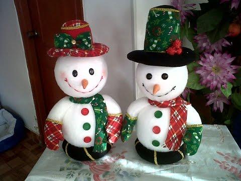 Haz Un Muneco De Nieve Manualidades Faciles Para Navidad - Videos-de-manualidades-para-navidad