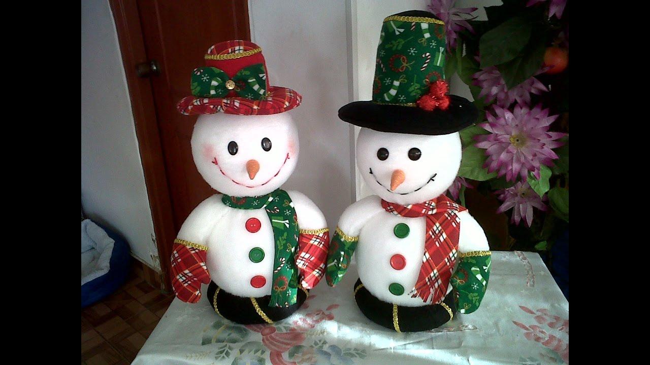 Haz un mu eco de nieve manualidades f ciles para - Manualidades munecos de navidad ...