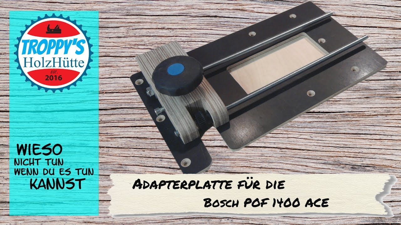 combination router base diy -adapterplatte für die bosch pof 1400