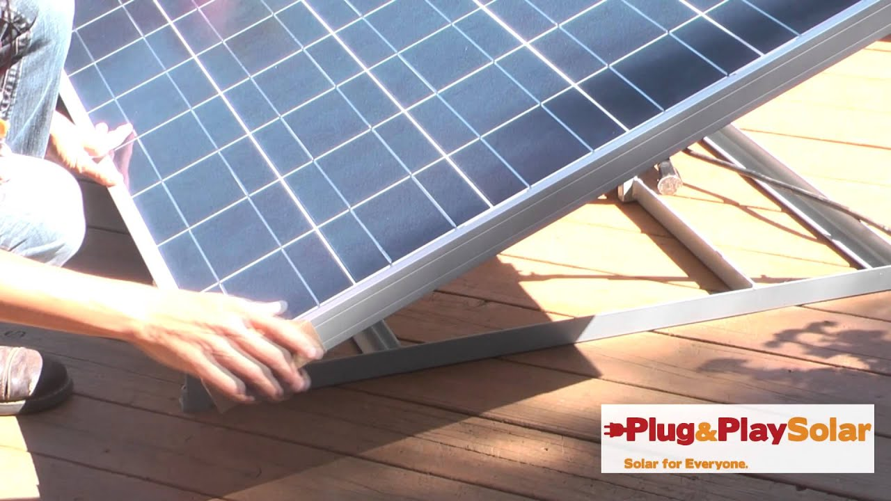 plug and play solar kits youtube. Black Bedroom Furniture Sets. Home Design Ideas