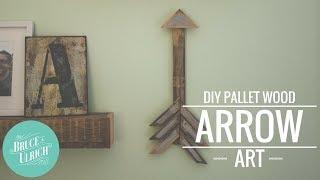 Diy Pallet Wood Arrow Art