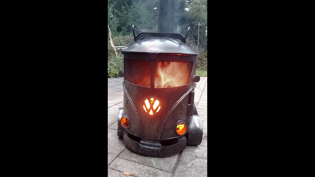 Creation Fabrication Vw Bus Log Burner Chiminea Bus