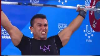 2013 Universiade Weightlifting 77 kg Highlights